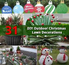 christmas lawn decorations 31 diy outdoor christmas lawn decorations gardenoid