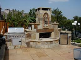 exterior nice small outdoor kitchen barbeque with granite tiles