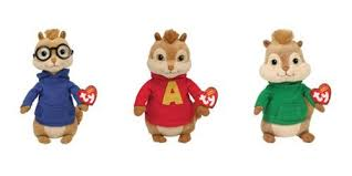 ty alvin u0026 chipmunks beanie baby 3 chipmunks alvin