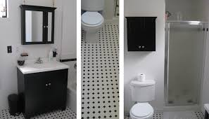Two Tone Bathroom Built By Todd Bathroom In Black And White