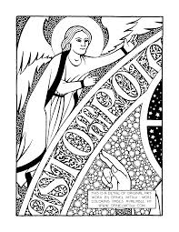 daniel mitsui artist coloring sheets christ in majesty