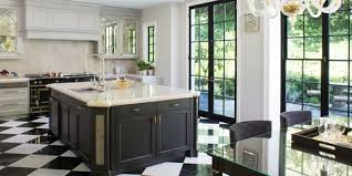white kitchen cabinets black tile floor 20 polished kitchens with striking black kitchen islands