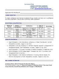 mba application resume format mba marketing fresher resume sle doc 1 career