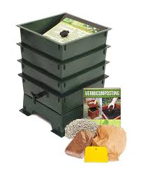 amazon com worm factory ds3gt 3 tray worm composter green