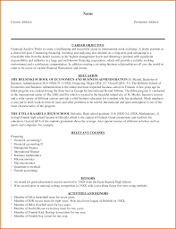 Financial Accountant Resume Example Financial Analyst Resume Examples Resume For Your Job Application