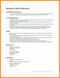 Career Overview Resume Sample Overview For Resume Medium Size Of Resumeresume Over One