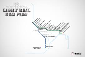 Link Light Rail Map Twin Cities Light Rail Map Map With Bars Near Every Stop Thrillist
