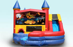 Halloween Inflatable Train 4 In 1 Square Modular Wet Dry Combo Jumper Combos All Star Jumpers