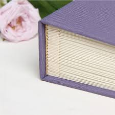 wedding guest sign in wedding guest book sign in book instant album lavender with paper