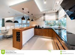 modern kitchen interior interior design with blank whiteboard royalty free stock image