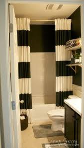 i like the shower curtain that goes from ceiling to floor ii