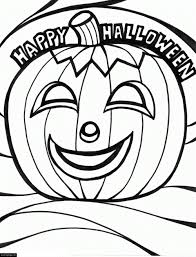 halloween pumpkin smiling happy coloring pages for coloring
