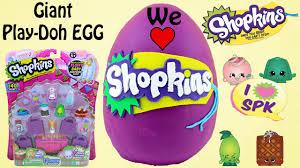 easter egg surprises shopkins play doh eggs shopkins blind bags