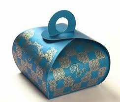 indian wedding gift box wedding party favor box in sky blue color