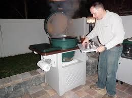 outdoor kitchen big green egg cabinet blog