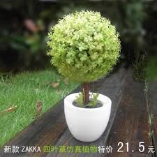 Imitation Plants Home Decoration Buy Zakka Four Leaf Grass Bonsai Artificial Plants Artificial