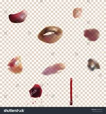 set varying bruise using transparency effect stock vector