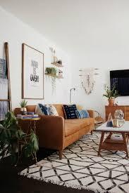 Living Room Brown Leather Sofa Wonderful Mid Century Modern Living Room Lighting Inspiration