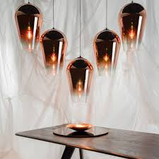 tom dixon fade pendant copper 50cm houseology