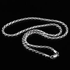 braided chain necklace images Real pure 925 sterling silver man sweater necklace italy design jpg