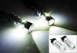 white pw24w cree led bulb error free daytime running light drl bmw