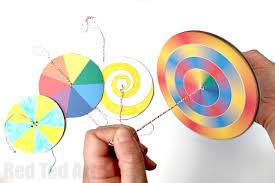 Easy Paper Craft For Kids - diy paper spinner toys red ted art u0027s blog