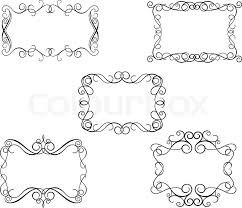 Victorian Design Style Vintage Frames In Victorian Style For Design As A Background