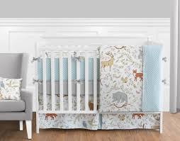 Woodland Animals Crib Bedding Woodland Animal Toile Baby Boy Or Bedding 9pc Crib Set By