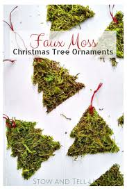 Easy Christmas Tree Decorations Diy Moss Christmas Tree Ornaments Stow U0026tellu