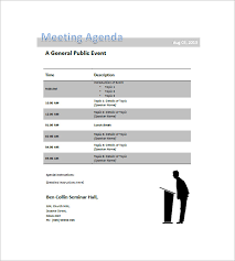8 conference agenda templates u2013 free sample example format