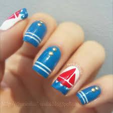 simple nautical nails nail art by shirley x nailpolis museum