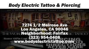 body electric tattoo u0026 piercing reviews los angeles ca