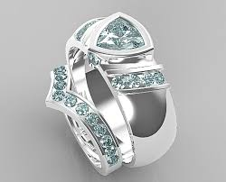 matching wedding bands for him and v style aquamarine matching wedding bands for him and vidar