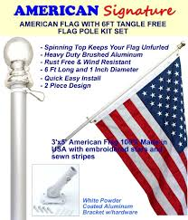 Front Porch Flag Pole Amazon Com Flag Pole Kit Includes 3x5 Ft American Flag Made In