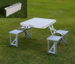 best table and chair set buy silver portable picnic table chair set home31 online at best