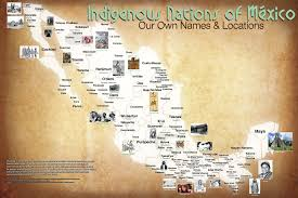 Mexico On Map Maps Of American Indian Tribes You U0027ve Never Seen Before