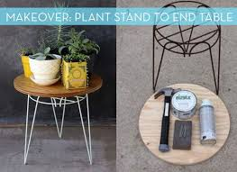 small metal outdoor end tables rusty plant stand turned end table makeover plants blog and patios