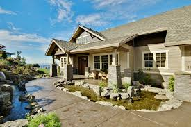craftsman house plans with walkout basement apartments front walkout basement sloping lot house plans sloped