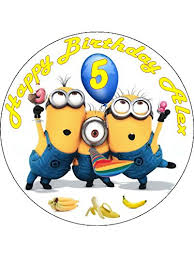 minions cake toppers 7 5 despicable me minions edible icing birthday cake topper