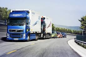 volvo lorry self driving lorry convoys could hit uk roads next year