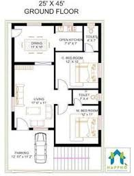 floor plan for house house plan for 25 by 52 plot plot size 144 square yards