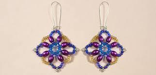 diy drop earrings diy a pair of handmade colorful flower beaded drop earrings