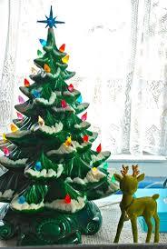 vintage ceramic christmas tree with lights christmas ideas