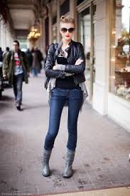 cool biker boots street cool models off duty the front row view