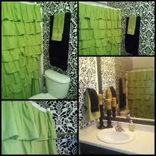 Bright Green Shower Curtain Bathroom Awesome Ruffle Shower Curtain For Decoration Bathroom