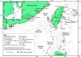 ne map map of the ne south china sea and surrounding regions locations of