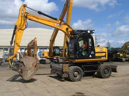 wheeled excavator for hire in scotland
