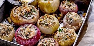 cuisiner des oignons oignons rôtis au four facile et pas cher recette sur cuisine actuelle