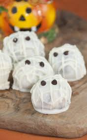 halloween mummy oreo truffles wishes and dishes