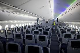 Boeing 787 Dreamliner Interior United Airlines Unveils Its First Boeing 787 Dreamliner Usatoday